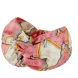 Gucci silk headband with snake print